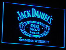 Blue Jack Daniels Led Sign Approx 12x8 Inches On/Off Switch Plugs into Mains