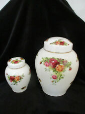 """ROYAL ALBERT  """" Old Country Roses """"   Very Large Ginger Jar  1st Quality  *RARE*"""
