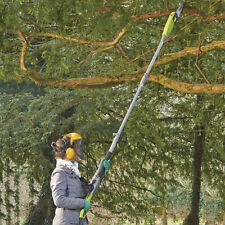 Telescopic Pole Chainsaw Long Reach Electric Tree Pruner Trimmer Branch Cutter