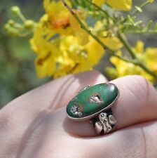 Vintage Navajo Fred Harvey Era Sterling Silver Turquoise Thunderbird Ring