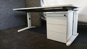 Steelcase Ology weiß Homeoffice Arbeitsplatz Schreibtisch mit Rollcontainer TOP!