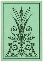 Playing Cards Single Card Old Antique DLR Wide Square Corner ART FLOWERS DESIGN