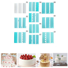 3pcs 10 Style Cake Scrapers Cream Spatula Edge Smoother Baking Decorating Sotds