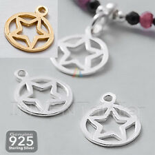 925 Sterling Silver TINY STAR Pendant Charm 9mm