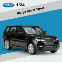 Welly 1:24 Scale Land Rover Model Range Rover Sport Black Diecast SUV Car Toys