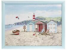 SANDY BAY BEACH DESIGN LAP TRAY - PADDED BEAN BAG CUSHION TV DINNER  LAPTRAY