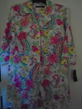 NEW RALPH LAUREN 813777 WPSLY 180 TROPICAL PINK FLORAL WOMENS  NIGHT SHIRT LARGE