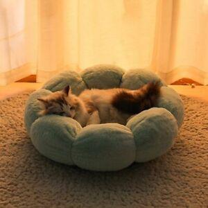 Indoor Dog House Bed Pet Round Kennel Soft Basket Warm Cushion Winter Sofa Plush