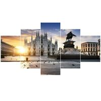 Italy Milan Cathedral 5 piece HD Poster Art Wall Home Decor Canvas Print