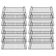 Gridwall Flat Display Shelf 24 X 12 Gloss Black 10 Pcs