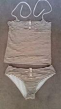 Machine Washable Striped Tankini Swimwear for Women