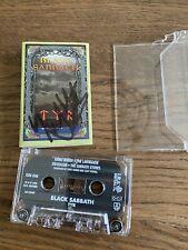 Black Sabbath TYR Cassette Tape ORIGINAL I.R.S. Signed By Tony Martin Original