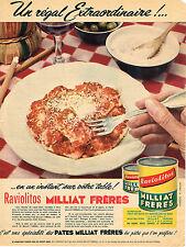 PUBLICITE ADVERTISING 025  1956  MILLIAT FRERES  les RAVIOLITOS