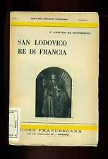 SAN LODOVICO Re di Francia Patrono del T O F Fossombrone Unione Francescana 1936