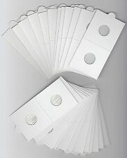"""LIGHTHOUSE 17.5mm SELF ADHESIVE 2""""x 2"""" COIN HOLDERS x 25. SUIT THREEPENCE/1 CENT"""