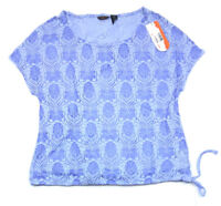 Merrell Women's Burnout Adjustable Sheer T-Shirt, Lavender, Medium MSRP $50.00