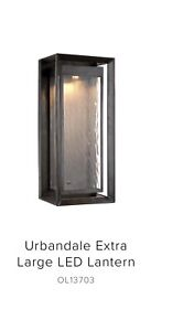 Feiss OL13703ANBZ-L1 Urbandale Large Outdoor LED Wall Lantern in Antique Bronze