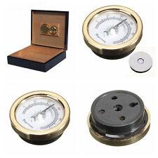 New 45mm Plastic Round Humid Moisturizing Gold Tobacco Cigar Smoking Hygrometer