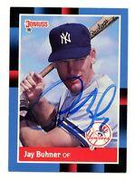 1988 Donruss Jay Buhner Card #545 Autograph Signed NY Yankees