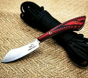 Wharncliffe Knife Fixed Blade Hunting Tactical Survival Wild D2 Steel G10 Handle
