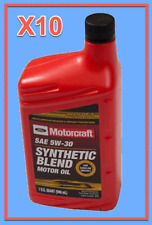 10X OEM FORD Engine Motor Oil Motorcraft XO5W30QSP SAE 5W-30 Premium Synthetic