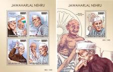 Jawaharlal Nehru India Politics Nobel Mahatma Gandhi Guinea MNH stamp set