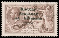 Ireland #36 Used CV$400.00 1922 2sh6p GRAY BROWN ALEX THOM OVERPRINT