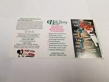 Port City Roosters 1996 Minor Baseball Pocket Schedule - Belk Beery