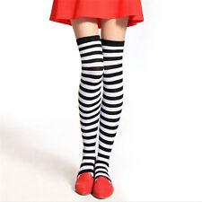 Fashion Girl Stripe Stripy Striped Long Socks Over The Knee Thigh High Stockings