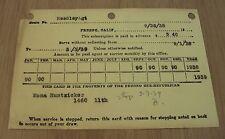 "1938 Newspaper SUBSCRIPTION Card~""The FRESNO BEE-REPUBLICAN""~California~"