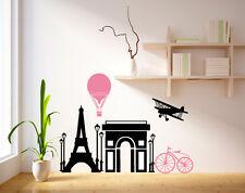 00535 Wall Stickers Adesivi murali Les rues de Paris Parigi viaggi 120x90 cm