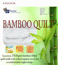 QueenSize 350GSM All Season 100% Bamboo Quilt Doona Cotton Cover Machinewashable