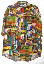 PETER ET JON CLOTHING HAWAIIAN SHIRT 100% SILK SHORT SLEEVE MENS SIZE L