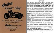 Indian 1976 - Indian Eighty Chief - Repair and Overhaul Supplement
