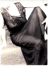 "NUDE WOMAN IN SHEER NEGLIGEE / EROTISCHE STUDIE * Vintage 60s Photo ""L"""