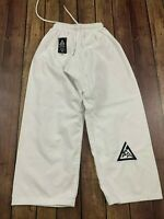 Gracie Jiu Jitsu Youth White Pants - 1/140 or 10-11 Yrs Old