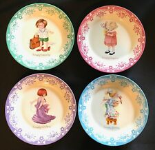 "Mary Engelbreit Simply Grown-Up 8"" Salad Plates Mint Set Of 4 Iob Punch Studio"