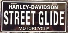 HARLEY DAVIDSON STREET GLIDE EMBOSSED METAL NOVELTY LICENSE PLATE TAG