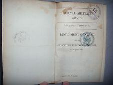 Militaria, Guerre: Journal militaire officiel: Service hôpitaux militaires, 1831