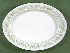 "Noritake Japan Savannah 2031 Oval Platter 14"" Platinum Trim EUC"