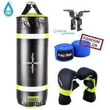 MaxxMma Water/Air 3 ft. Heavy Bag + Neoprene Gloves + Woodbeam Hanger + HandWrap