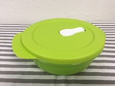 Tupperware Crystalwave Microwave Container 2 1/2 Cups Green New