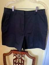 Nwot Women's Tommy Hilfiger Golf Shorts Black 100% goes to basset hound rescue!