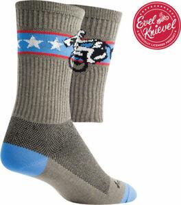 SockGuy Crew Wheelie Sock: Gray SM/MD 6 Inch Synthetic Warm Weather Sock