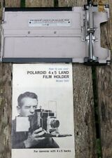 Polaroid 4 x 5 pays film holder Model 500 with ORIGINAL INSTRUCTIONS Book