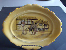 """Vtg 1929  L & Sons English Ware  Hanley  Serving Plate 10""""  """"The Joley Drover"""""""
