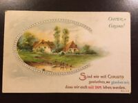 Vintage 1917 Postcard Greeting German Oster = Gruss!