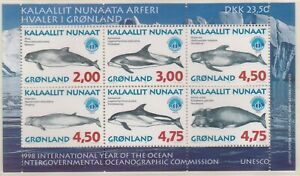 GLD075) Greenland 1998, M/S, Whales, MUH