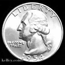 1954-D 25C Washington Silver Quarter BU