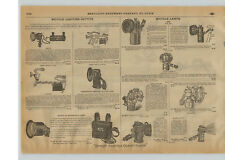 1915 PAPER AD Motorcycle Bicycle Head Light Old Sol Solar Bulb Horn Klaxon Hand